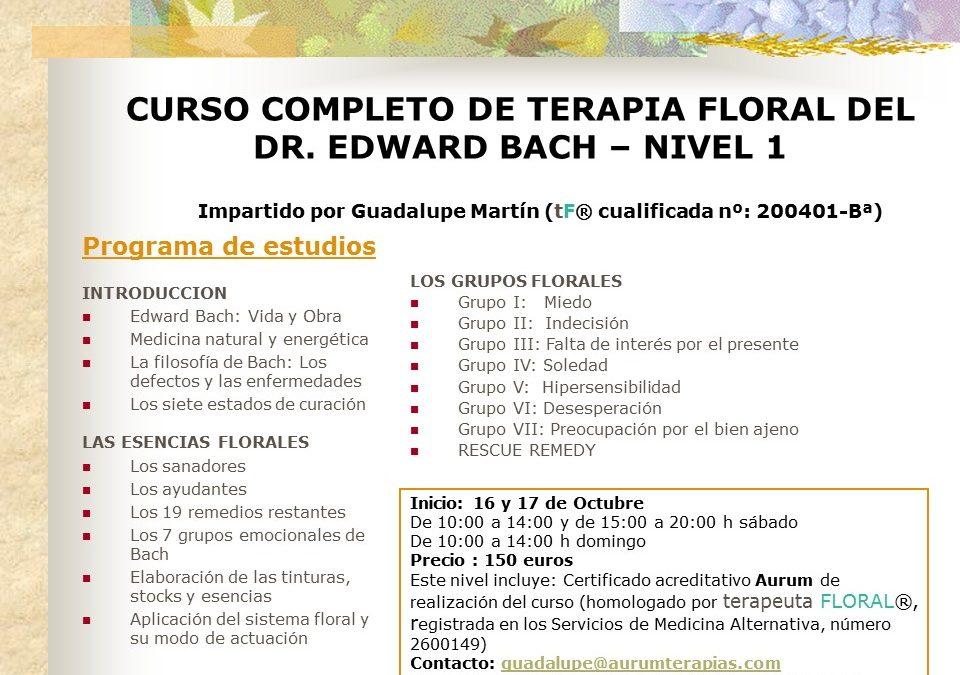 CURSO FLORES DE BACH – NIVEL 1